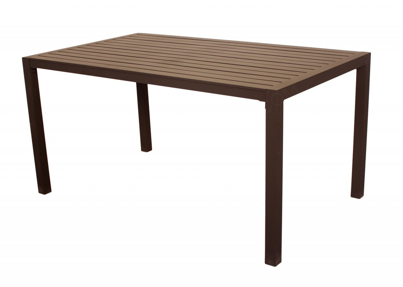 Table A Manger SARANA 150 en ALUMINIUM BRONZE MARRON INDOOR OUTDOOR 31525