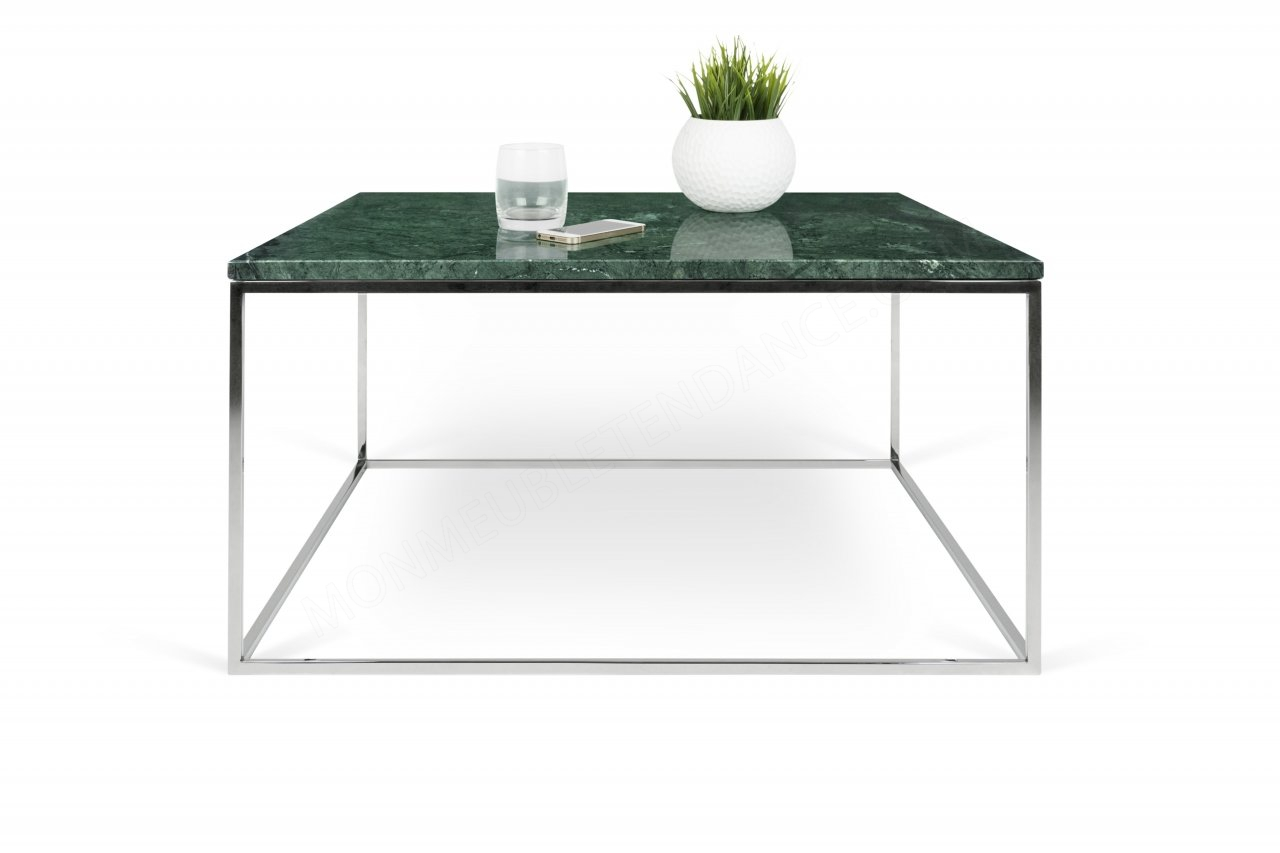 Table Basse Gleam 75 Marbre Vertchrome Temahome 9500626227