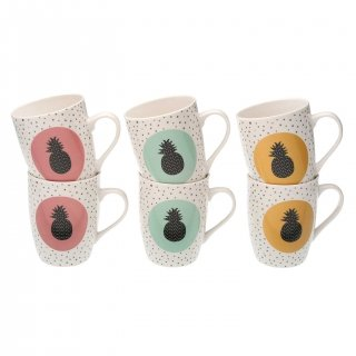 SET 6 MUGS ANANAS VERSA 19470069