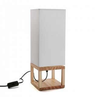 LAMPE DE TABLE BLANCHE VERSA 20960037