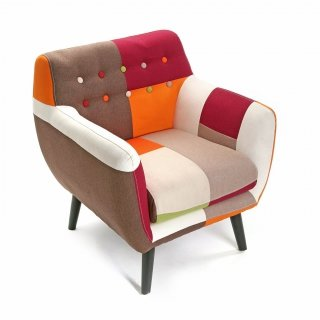 SOFA INDIVIDUEL PATCHW ROUGE VERSA 19500460