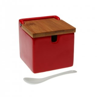 SUCRIER ROUGE COUVERCLE BAMBOU VERSA 21490016