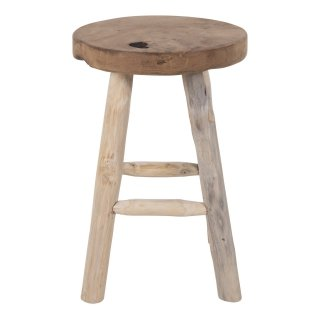 Tabouret en teck 4 pieds - Collection Badia - House Nordic