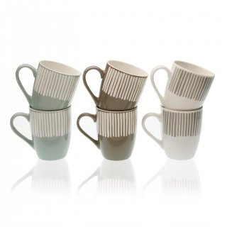 SET 6 MUGS ZEBRA VERSA 19470097