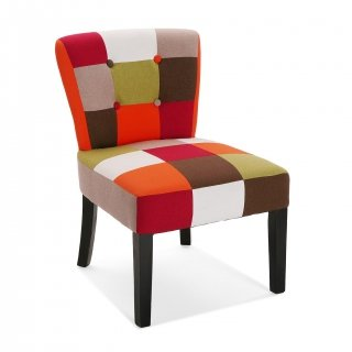 CHAISE RED  PATCHWORK VERSA 19500457