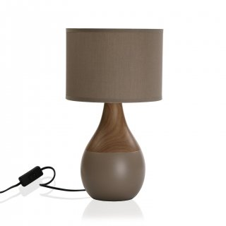LAMPE DE TABLE TAUPE VERSA 20960134
