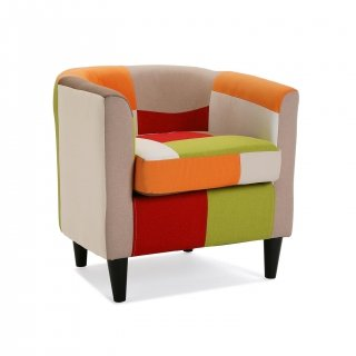 FAUTEUIL RED PATCHWORK VERSA 19500458