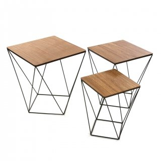 SET DE TROIS TABLES BLACKWIRE VERSA 20850012