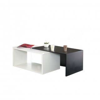 TABLE BASSE BLANC NOIR Box SYMBIOSIS 2005A0200X00