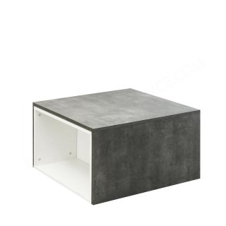 TABLE BASSE MODULABLE BETON/BLANC Domino SYMBIOSIS 2066A0600X00