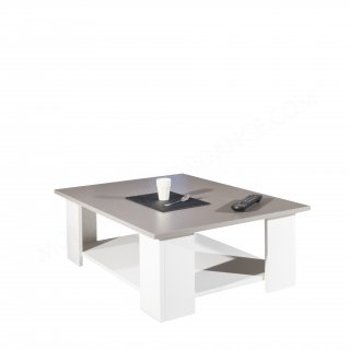 TABLE BASSE BLANCHE PLATEAU TAUPE Square SYMBIOSIS 2082A2191X00