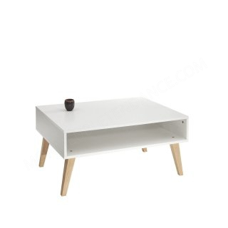 TABLE BASSE BLANC PIEDS INCL HETRE PRISM SYMBIOSIS 2094A0400X00