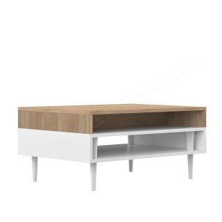 TABLE BASSE HORIZON CHENE NATUREL BLANC HORIZON SYMBIOSIS 2150A0300X00