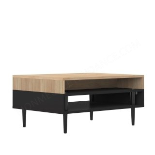 TABLE BASSE HORIZON CHENE NATUREL NOIR HORIZON SYMBIOSIS 2150A0700X00
