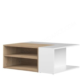 TABLE BASSE CHENE NATUREL/BLC ANGLE SYMBIOSIS 2240A3421X00