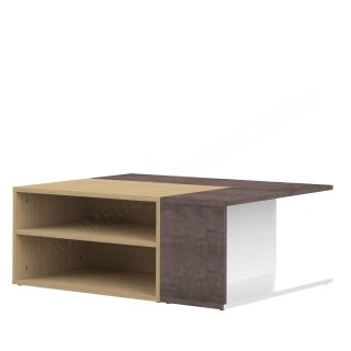 TABLE BASSE CHENE CLAIR/BETON ANGLE SYMBIOSIS 2240A4406X00