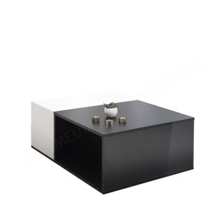 TABLE BASSE BIVOLUME NOIR ET BLANC Boston SYMBIOSIS 2300A0200X00
