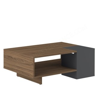 TABLE BASSE KUBE NOYER/GRIS ANT KUBE SYMBIOSIS 2490A0900X00