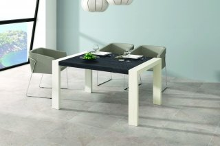 Table A Manger Rectangulaire Extensible 144/204 PLATEAU AZABACHE - PIEDS POLAR INDOOR OUTDOOR 30104