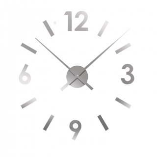 GREY STICKER WALL CLOCK VERSA 16660120