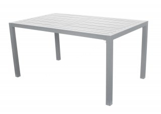 Table A Manger SARANA 150 en ALUMINIUM BLANC INDOOR OUTDOOR 31524