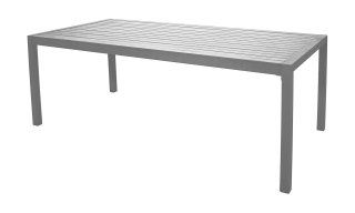 Table A Manger SARANA 200 en ALUMINIUM GRIS PLATA INDOOR OUTDOOR 31529