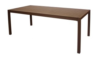 Table A Manger SARANA 200 en ALUMINIUM BRONZE MARRON INDOOR OUTDOOR 31530