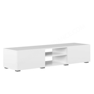 MEUBLE TV BLANC 2 NICHES 2 PORTES BLANC Podium SYMBIOSIS 3153A2121A00