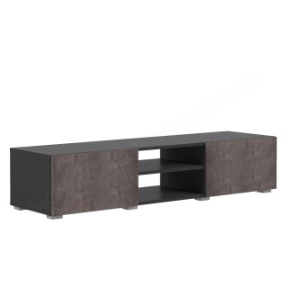 MEUBLE TV NOIR 2 NICHES 2 PORTES BETON Podium SYMBIOSIS 3153A7698A00