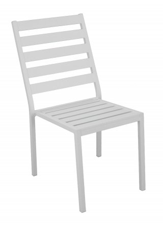 Chaise A Manger ANGUSSA G2 en ALUMINIUM BLANC Coussins couleur ALBA ECRU- Lot de 2 INDOOR OUTDOOR 31561
