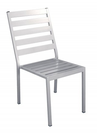 Chaise A Manger ANGUSSA G2 en ALUMINIUM GRIS PLATA Coussins couleur ALBA ECRU- Lot de 2 INDOOR OUTDOOR 31562