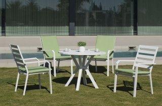 Table A Manger AYMA 110 en ALUMINIUM BLANC INDOOR OUTDOOR 31567