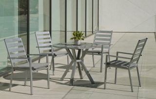Table A Manger AYMA 110 en ALUMINIUM GRIS PLATA INDOOR OUTDOOR 31568