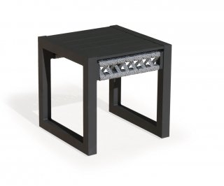 Table Basse Aux CAYMAN-30 Finition ANTHRACITE/CORDAGE GRIS