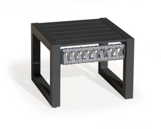 Table Basse Aux CAYMAN-40 Finition ANTHRACITE/CORDAGE GRIS