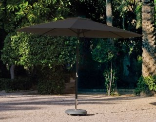 Parasol MARLOU-35 Finition MAT ANTHRACITE Tissus TOILE ANTHRACITE