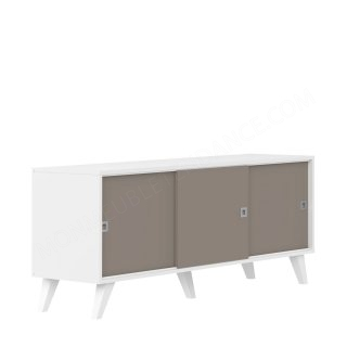 Enfilade 3 portes PRISM - blanc/taupe SYMBIOSIS 4112A2191A92