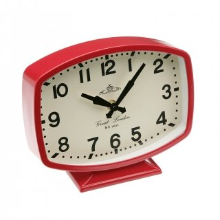HORLOGE DE TABLE ROUGE VERSA 20800007