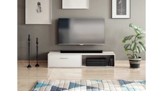 Meuble TV blanc mat - SIMPLE