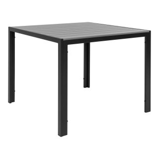 Table de jardin gris et noir 90x90cm - Collection colorado - House Nordic