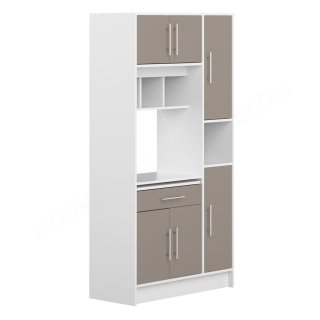 DESSERTE BUFFET MO BLANC TAUPE Louise SYMBIOSIS 8070X2191A80
