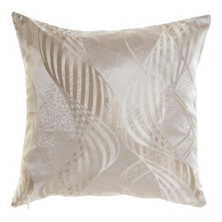 Coussin DKD Home Decor Beige Polyester (45 x 45 x 45 cm)