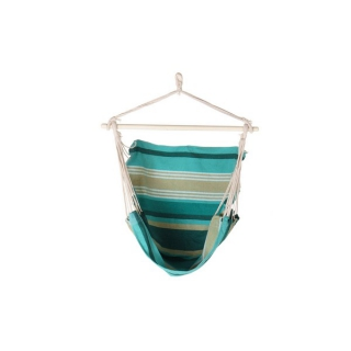 Chaise Hamac DKD Home Decor Turquoise Polyester Coton (97 x 100 x 120 cm)
