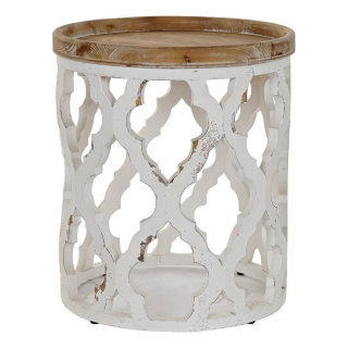 Table d'appoint DKD Home Decor Sapin Bois MDF (50 x 50 x 56 cm)