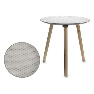 Table d'Appoint Blanche (49,5 x 47,5 x 49,5 cm) Blanc