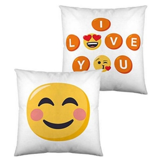 Coussin rembourré Emoji I Love You (40 x 40 cm)