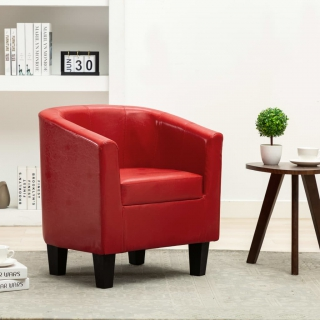 Fauteuil Rouge Similicuir