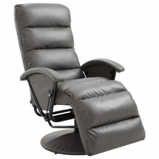 Fauteuil inclinable TV Gris Similicuir