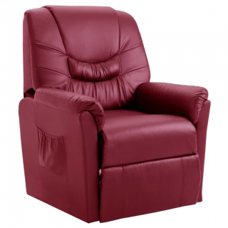 Chaise inclinable Rouge bordeaux Similicuir