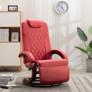 Fauteuil inclinable TV Rouge Similicuir